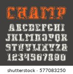 slab serif font and numerals... | Shutterstock .eps vector #577083250