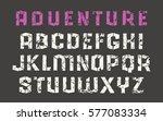 stencil sanserif font in the... | Shutterstock .eps vector #577083334