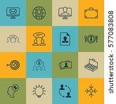 set of 16 business management... | Shutterstock .eps vector #577083808