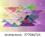 triangle art pattern | Shutterstock .eps vector #577086724