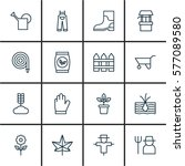 Set Of 16 Holticulture Icons....