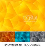 crystal abstract background ... | Shutterstock .eps vector #577098538