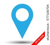 location icon. simple flat logo ...