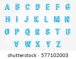 vector typeface with bright... | Shutterstock .eps vector #577102003