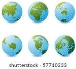 earth globe icons over white... | Shutterstock .eps vector #57710233