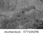 old  broken  gray wall  texture ... | Shutterstock . vector #577104298