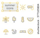 thin line icons set  linear... | Shutterstock .eps vector #577105804