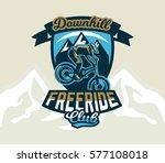 colorful logo  emblem  label ... | Shutterstock .eps vector #577108018