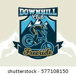 colorful logo  emblem  label ... | Shutterstock .eps vector #577108150