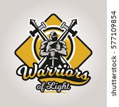 colorful logo  emblem  a knight ... | Shutterstock .eps vector #577109854