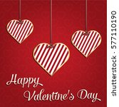 valentines day card  geometric...   Shutterstock .eps vector #577110190