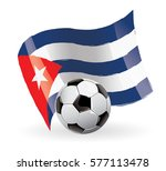 cuba flag waving football | Shutterstock .eps vector #577113478