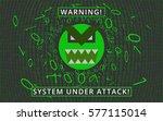 computer virus  trojan  malware ... | Shutterstock .eps vector #577115014
