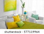 Color Interior Of Modern...