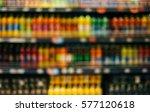defocused shelves with juice in ...   Shutterstock . vector #577120618