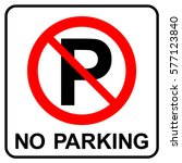 No Parking Or Stopping Sign ...