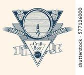 craft beer barrel emblem | Shutterstock .eps vector #577126000