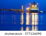 Small photo of Gas carrier, Sakhalin island, Russia.