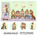 veterinary clinic interior.... | Shutterstock .eps vector #577129540
