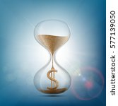hourglass with a dollar sign... | Shutterstock .eps vector #577139050