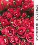 red rose bouquet | Shutterstock . vector #577145608