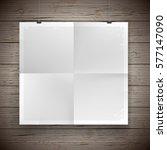 blank folded paper poster... | Shutterstock .eps vector #577147090