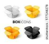 empty packaging cardboards ... | Shutterstock .eps vector #577148278