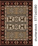 vintage ethnic carpet with ... | Shutterstock . vector #577160380