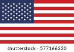 vector image of american flag | Shutterstock .eps vector #577166320