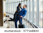 couple in love on vacation.... | Shutterstock . vector #577168843