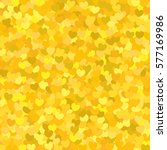 pattern with a yellow heart.... | Shutterstock .eps vector #577169986