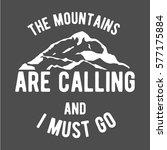 mountain climbing vintage logos   Shutterstock . vector #577175884