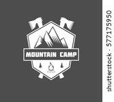 set of vintage mountain...   Shutterstock . vector #577175950