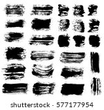 grunge paint vector. painted... | Shutterstock .eps vector #577177954