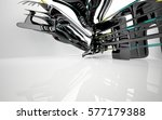 abstract dynamic interior with... | Shutterstock . vector #577179388