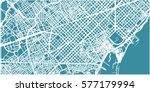 detailed vector map of... | Shutterstock .eps vector #577179994