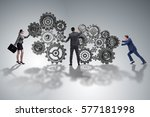 teamwork concept with... | Shutterstock . vector #577181998