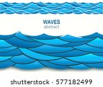 sea seamless pattern with paper ... | Shutterstock .eps vector #577182499