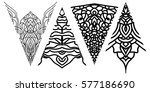 set triangular eastern elements ... | Shutterstock .eps vector #577186690
