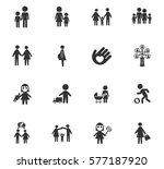 family vector icons for user... | Shutterstock .eps vector #577187920