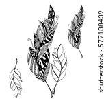 vector set of hand drawn sketch ... | Shutterstock .eps vector #577188439