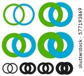 interlocking circles  rings.... | Shutterstock .eps vector #577193869
