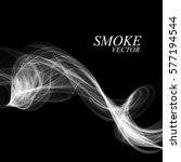 abstract smoke isolated on... | Shutterstock .eps vector #577194544