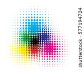 rgb and cmyk halftone vector... | Shutterstock .eps vector #577194724