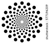 dotted circular shape  element. ... | Shutterstock .eps vector #577196209