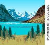 Illustration Of Glacier...