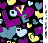 cute seamless pattern for girls ... | Shutterstock .eps vector #577202794