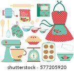 retro baking | Shutterstock .eps vector #577205920