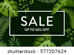 sale banner  poster with... | Shutterstock .eps vector #577207624