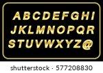 golden italic font. vector... | Shutterstock .eps vector #577208830